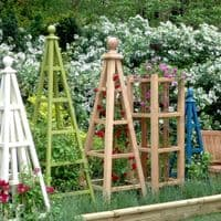 Large Oak Garden Obelisk - Bespoke Sizes Made to Order